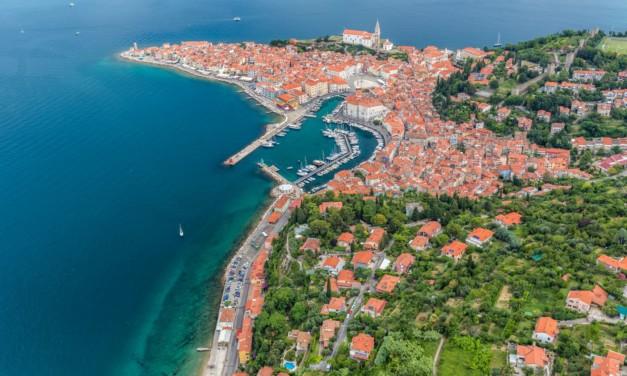 Slowenische Küste mit Koper und Piran